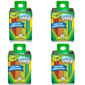 4 Pack Crayola Washable Sidewalk Chalk